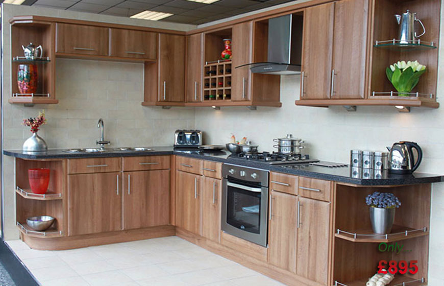 Walnut kitchen fitted kitchen for Fitted kitchen cabinets